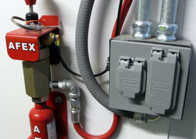 Automatic fire suppression system.