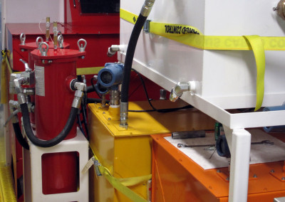 Fluid tanks in the 'warm' room of the FRS.