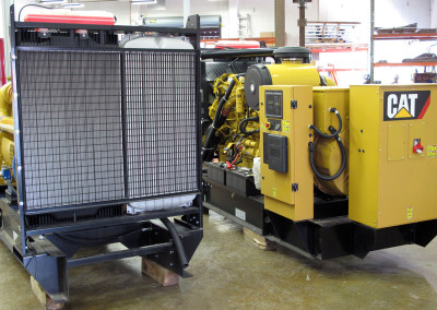 Twin Cat C-18 diesel generators.