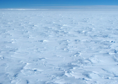 Polar plateau of rough ice.