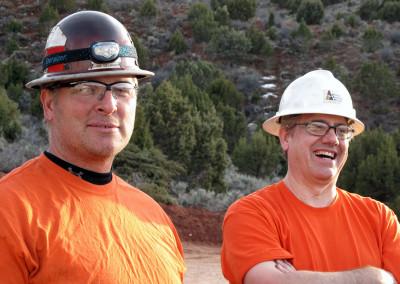 Chris and Dan at the NAT – happy and warm.