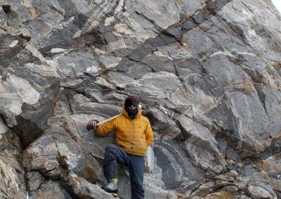 Complex gneisses exposed at Milan Ridge, Miller Range.