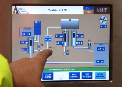 PLC interface for the FRS automation.
