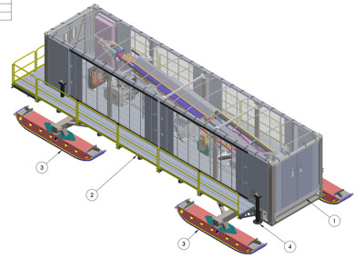 Cutaway of the drill module.