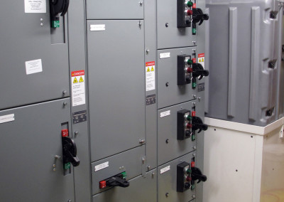 Electrical distribution in the FRS module.