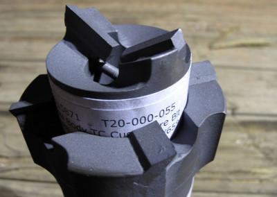 A RAID tungsten-carbide ice cutting bit.