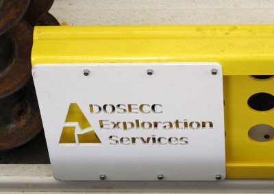 OEM nameplate for DOSECC Exploration Services, LLC.