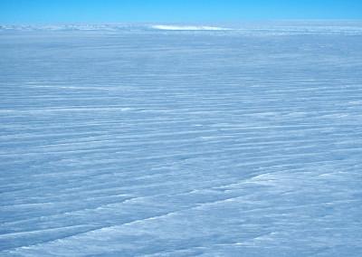 Crevasse field at the edge of the polar ice cap.