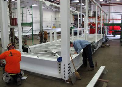 Assembling one of the racks.