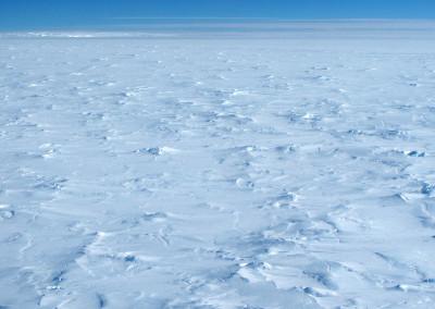 Polar plateau of rough ice.